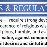 Useless rules and regulations with an appearance of wisdom