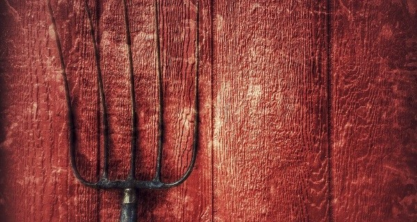 red wall pitchfork