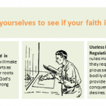 Examine yourselves to see if your faith is genuine