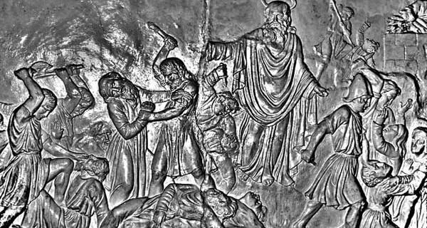 Elijah killing the prophets of Baal