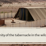 The trinity of the tabernacle in the wilderness