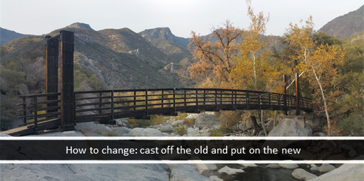 How to change: cast off the old and put on the new