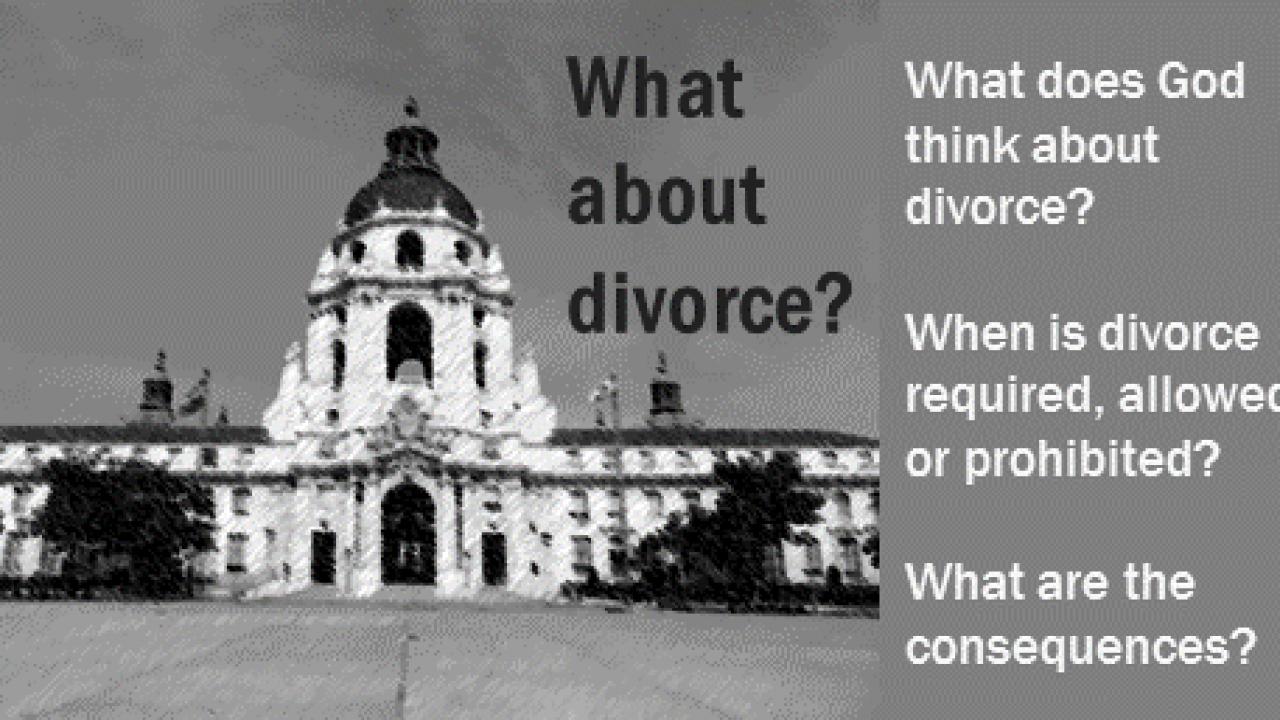 What about divorce? - BibleTruths