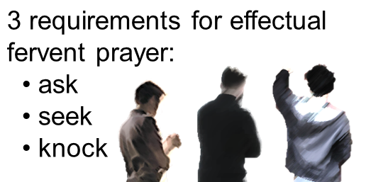 3 Requirements For Effectual Fervent Prayer: Ask, Seek, And Knock    BibleTruths